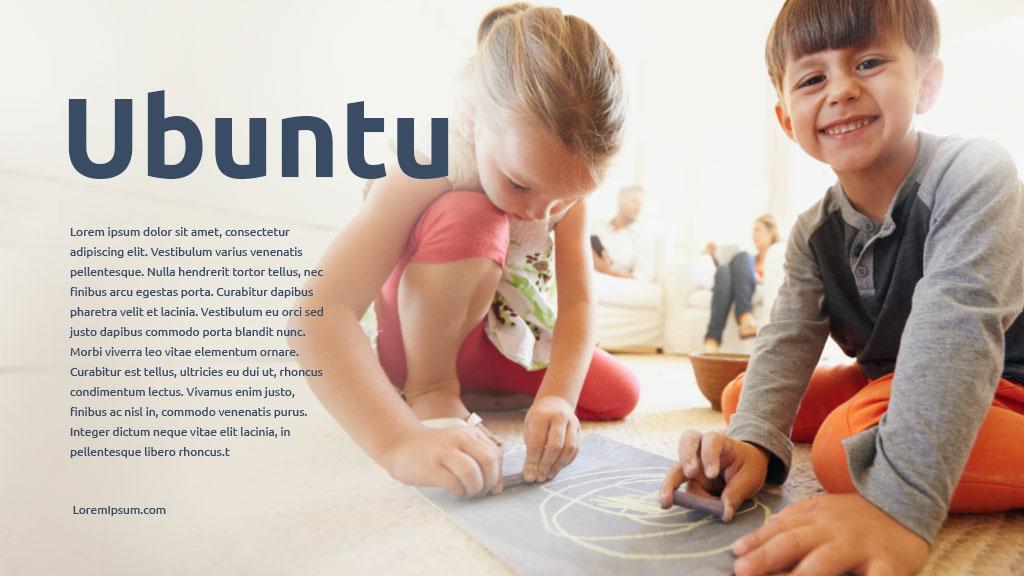 Ubuntu. A Google Free font